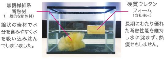 断熱材の耐水性比較実験